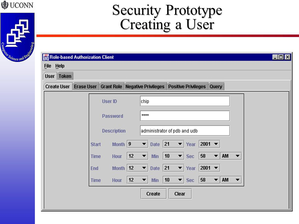 ISSEA 2002-38 Security Prototype Creating a User