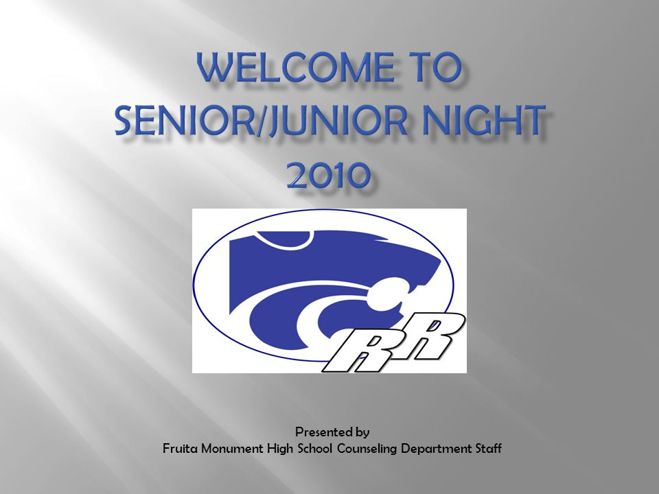 Presented by Fruita Monument High School Counseling Department Staff