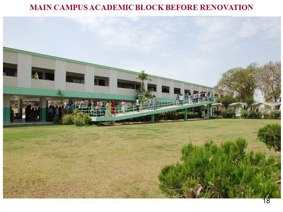 18 MAIN CAMPUS ACADEMIC BLOCK BEFORE RENOVATION