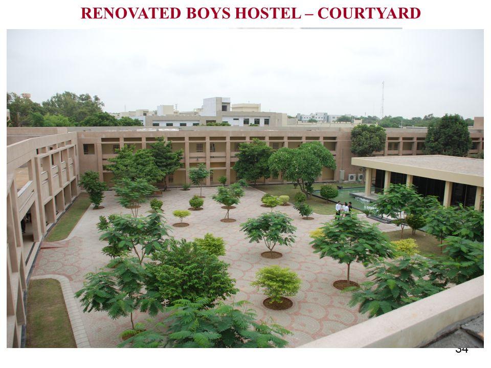 34 RENOVATED BOYS HOSTEL – COURTYARD