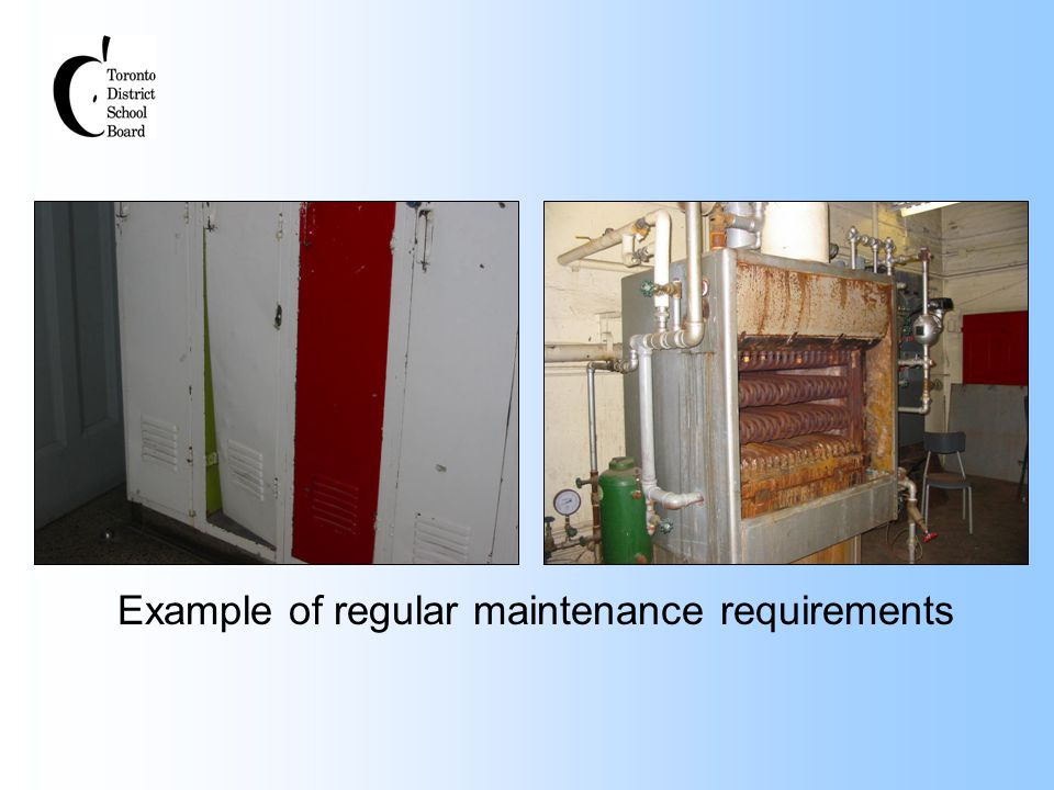 Example of regular maintenance requirements