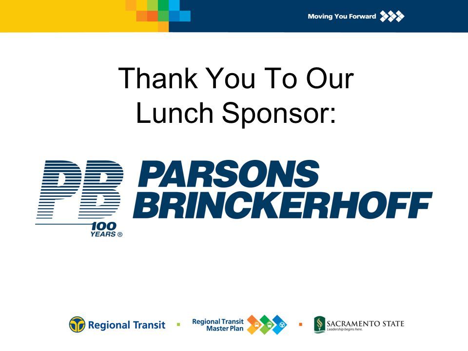 Thank You To Our Lunch Sponsor: