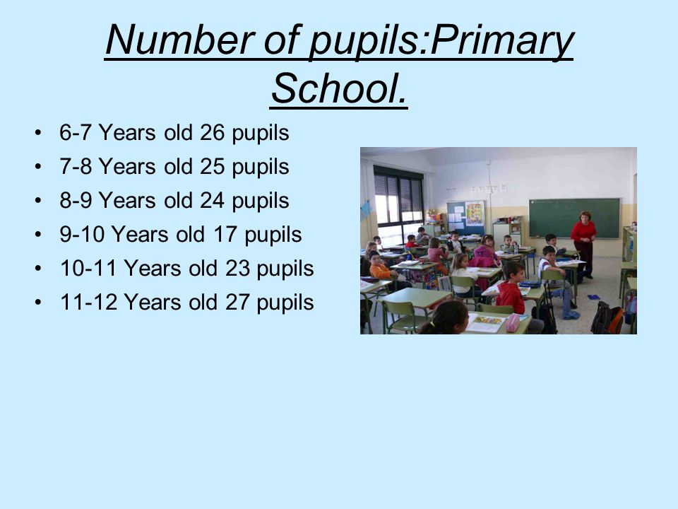 Number of pupils:Primary School.
