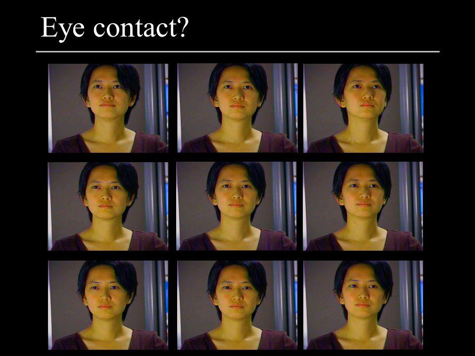 Sensitivity is asymmetric * 16 observers judged recorded videos of 1 looker