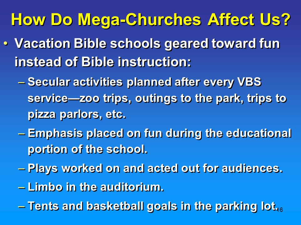 16 How Do Mega-Churches Affect Us.