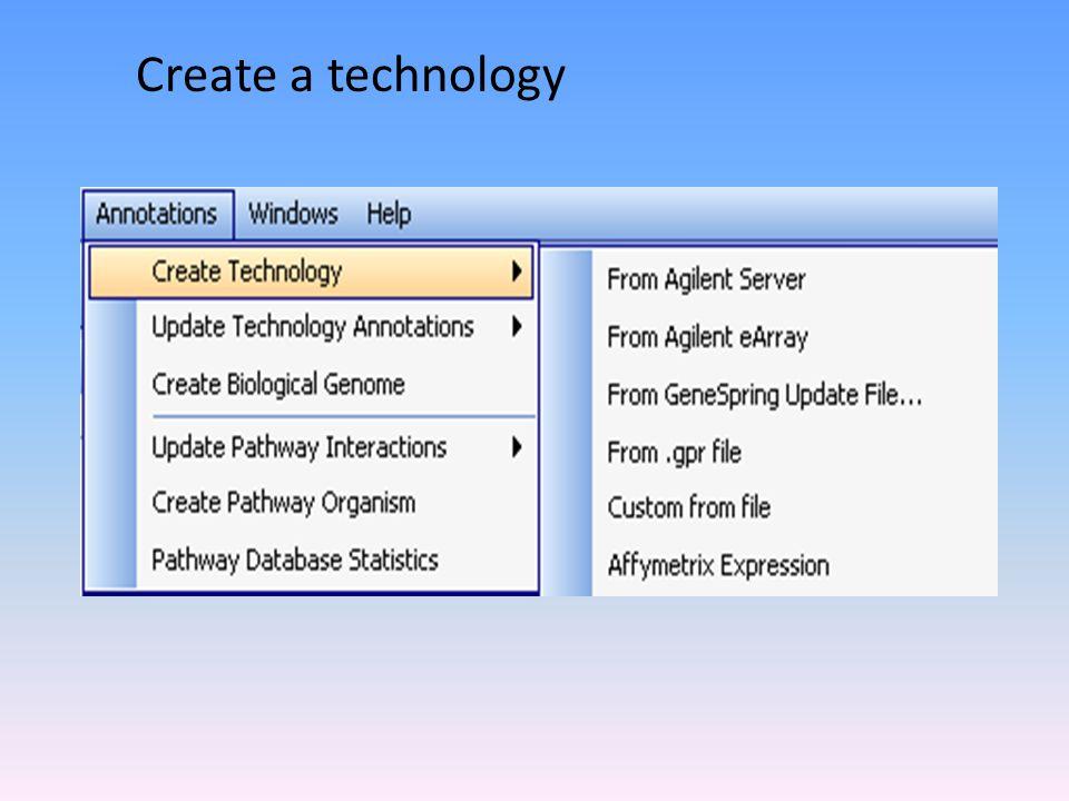 Create a technology