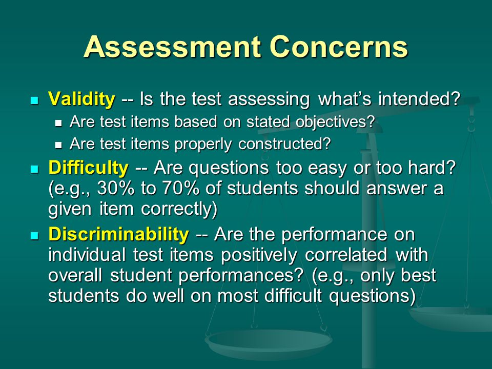 Evaluation Types Criterion-referenced evaluation -- student performance is assessed against a set of predetermined standards Criterion-referenced evaluation -- student performance is assessed against a set of predetermined standards Norm-referenced evaluation -- student performance is assessed relative to the other students Norm-referenced evaluation -- student performance is assessed relative to the other students The curve -- sometimes a combination of criterion- and norm-referenced processes The curve -- sometimes a combination of criterion- and norm-referenced processes