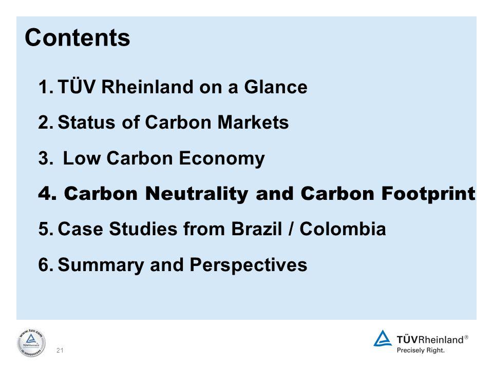 21 1.TÜV Rheinland on a Glance 2.Status of Carbon Markets 3.