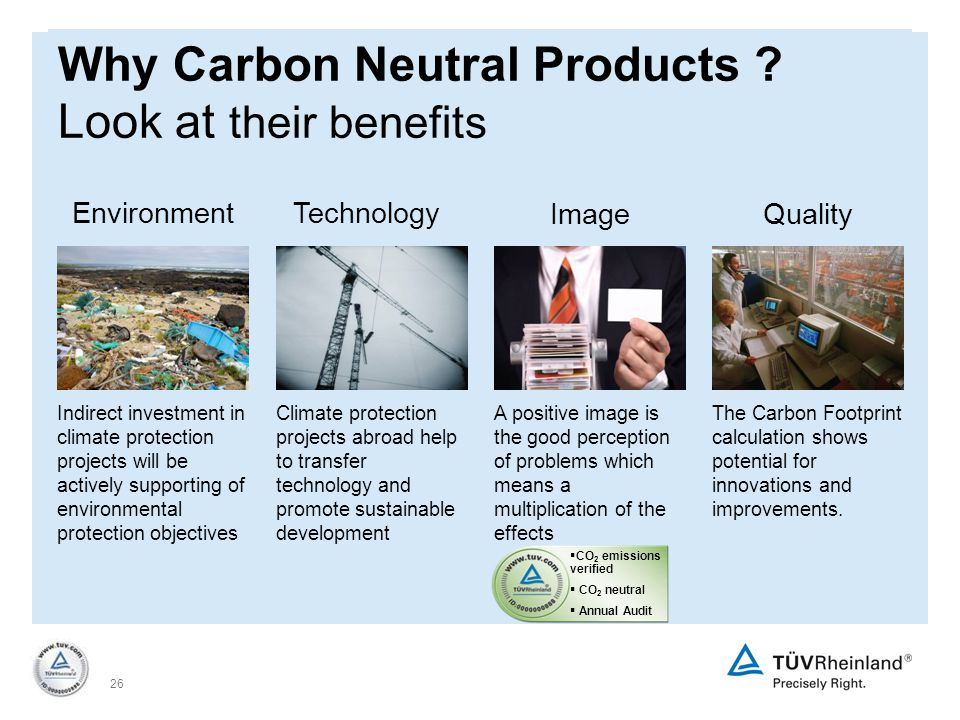 26 Why Carbon Neutral Products .