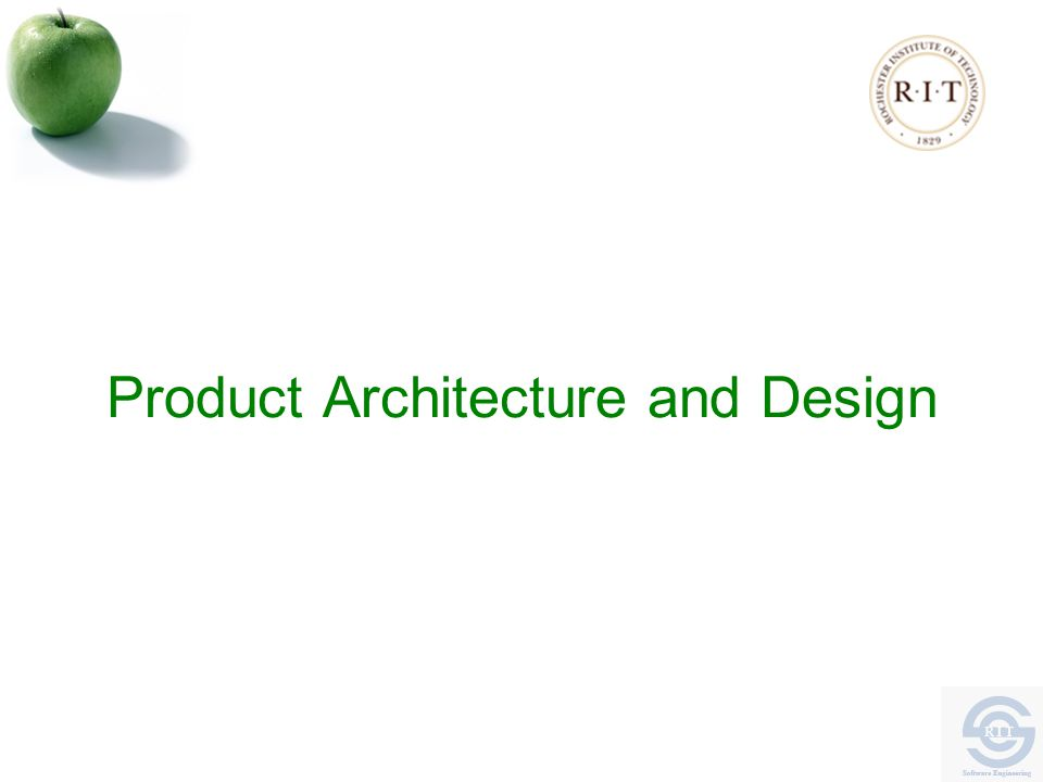 Product Architecture and Design