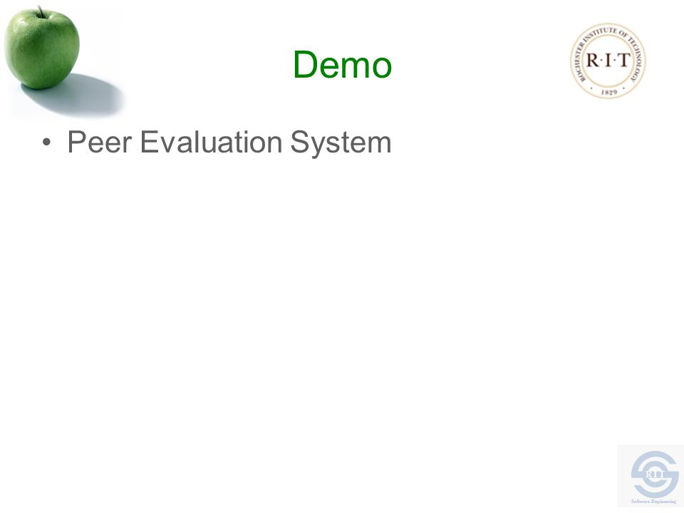 Demo Peer Evaluation System