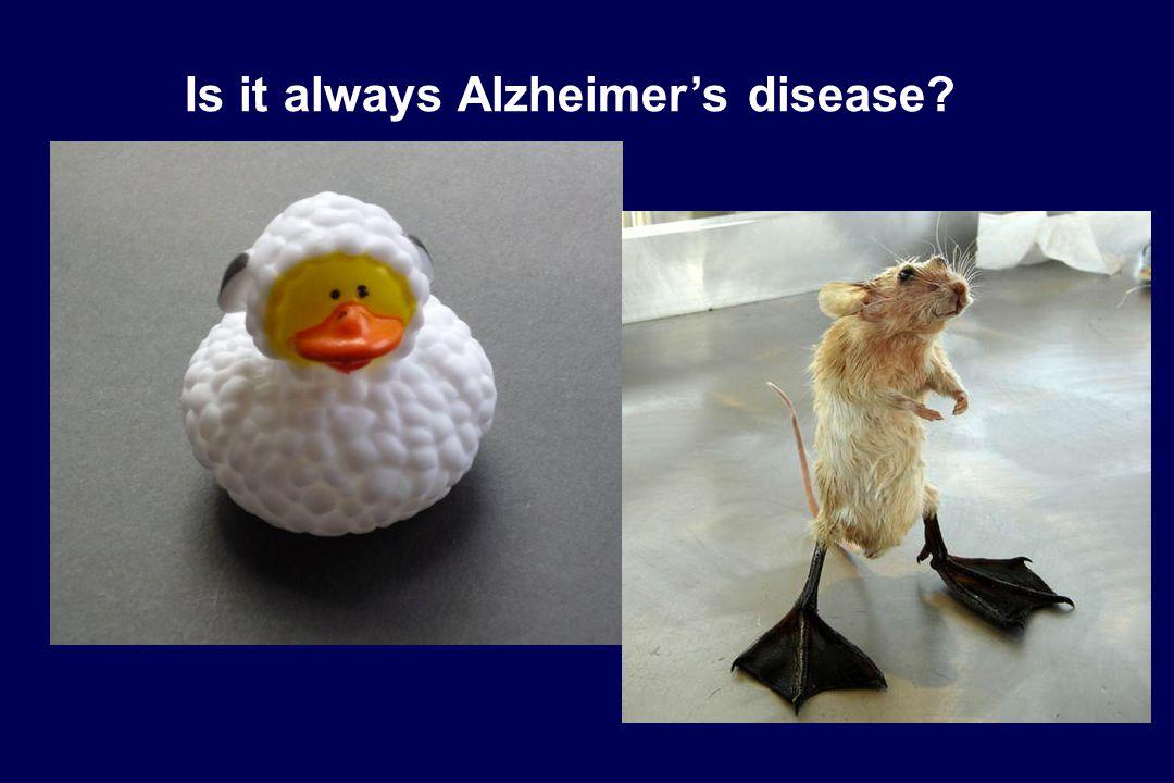 Is it always Alzheimer's disease?