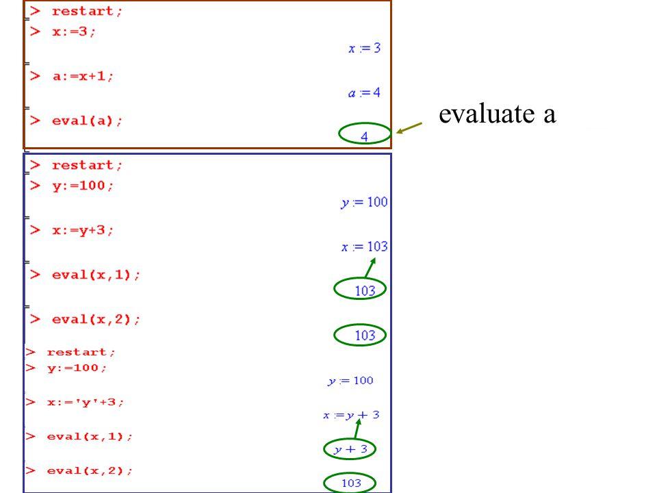 evaluate a