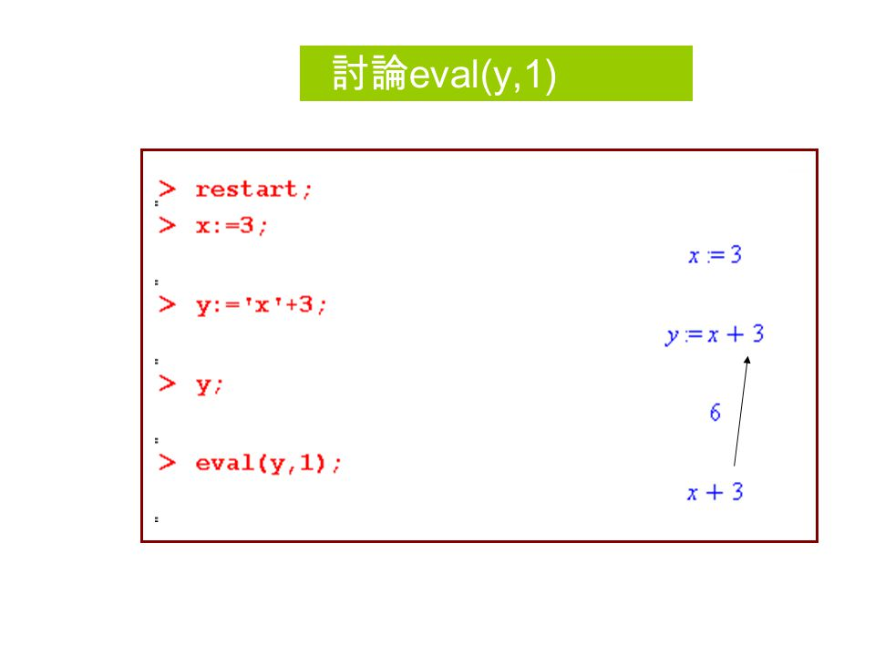 Delayed evaluation(continue) What happened to the single quote in left equal sign  The first x has its evaluation dealyed and the second x is evaluated right away