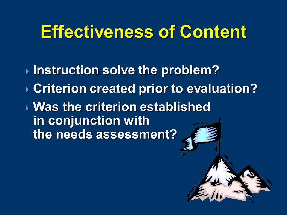 Effectiveness of Content  Instruction solve the problem.