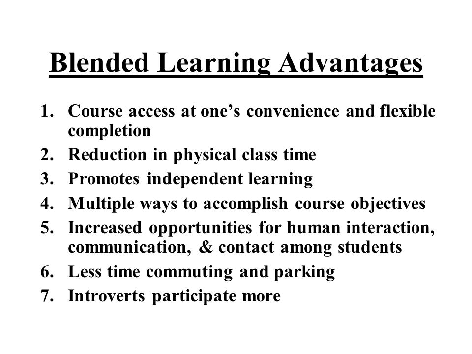 And Blended Learning Results…???