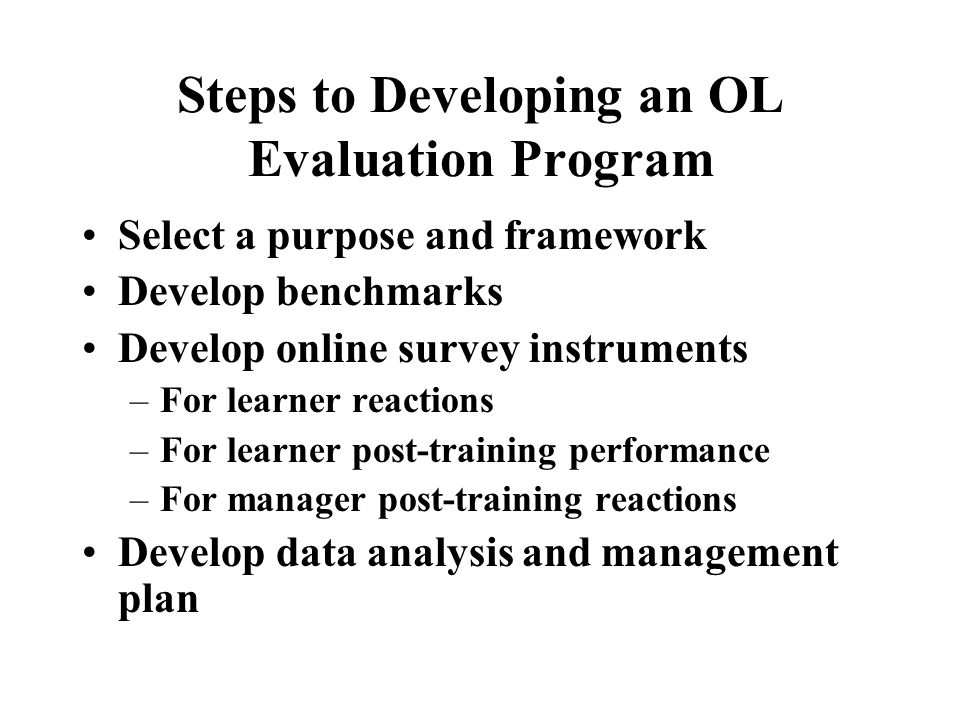 Evaluation Plans Does your company have a training evaluation plan?