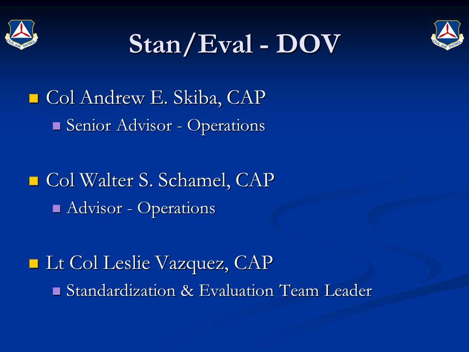 Stan/Eval - DOV Col Andrew E. Skiba, CAP Col Andrew E.