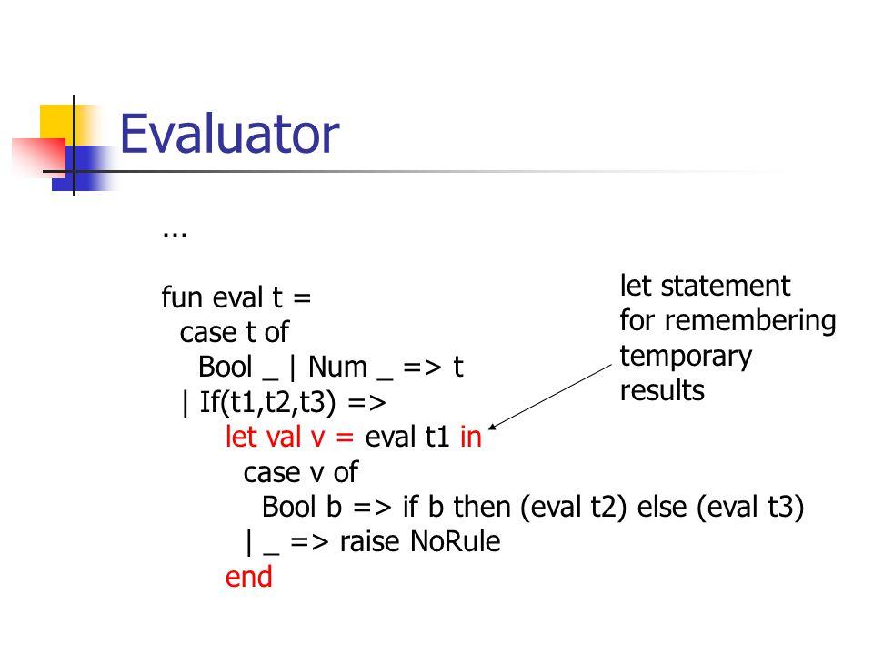 Evaluator...
