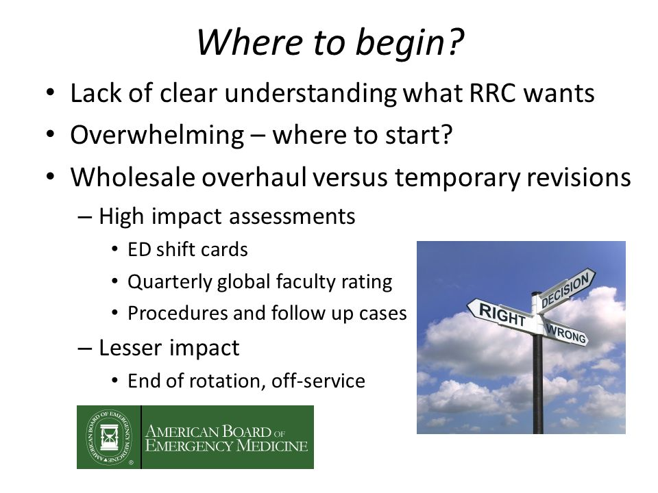 Where to begin. Lack of clear understanding what RRC wants Overwhelming – where to start.