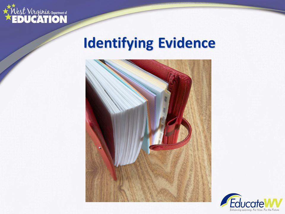Identifying Evidence