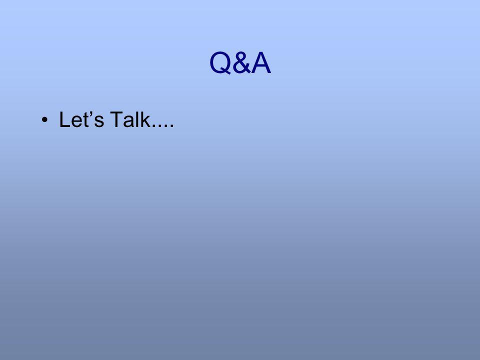 Q&A Let's Talk....