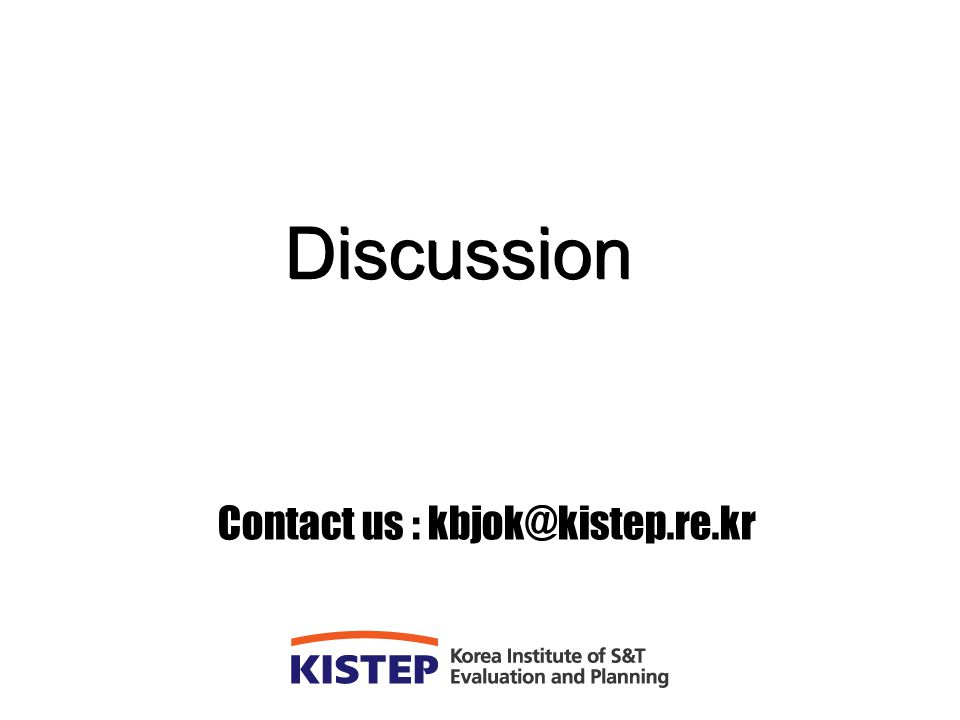 Contact us : kbjok@kistep.re.kr