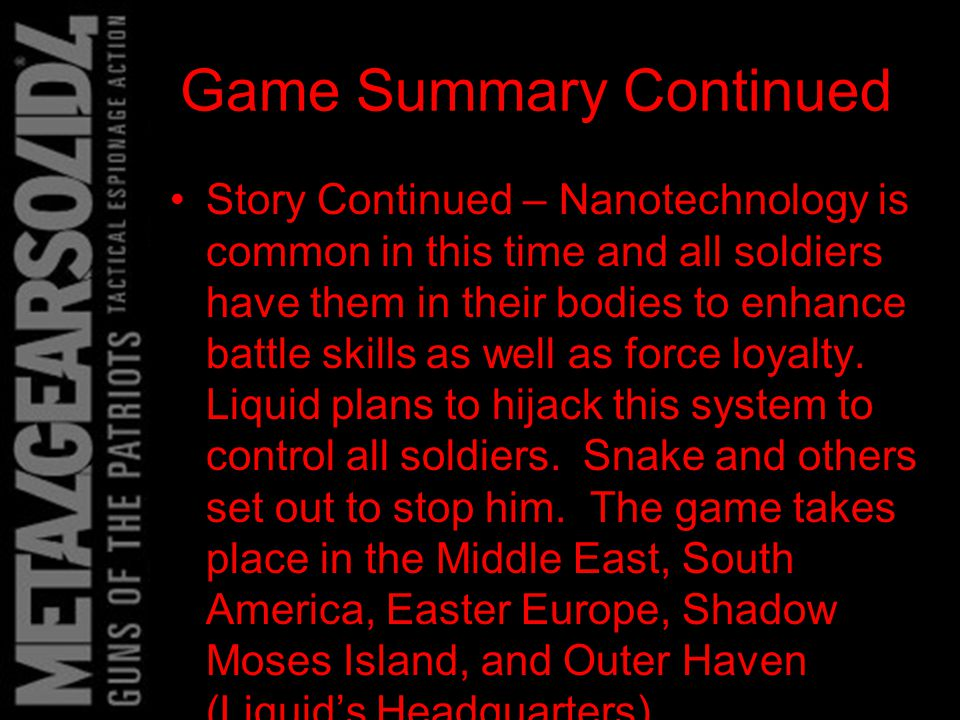 Game Summary Continued Sound and Music – The sound effects are, as always, very realistic.