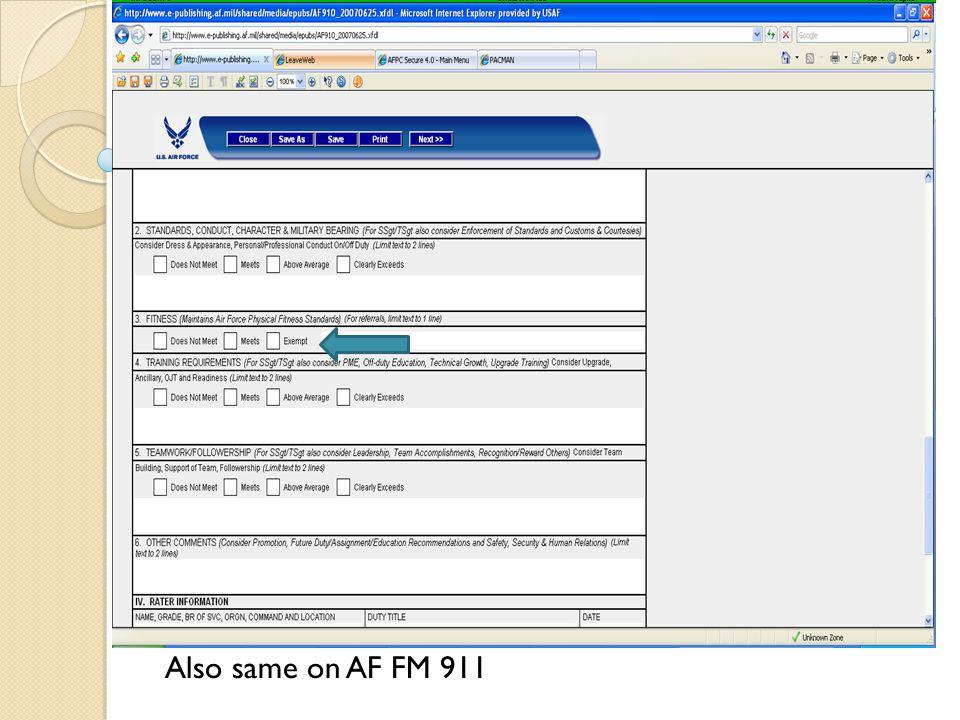 Insert pic of 707 AF FM 910 (EPR) Also same on AF FM 911