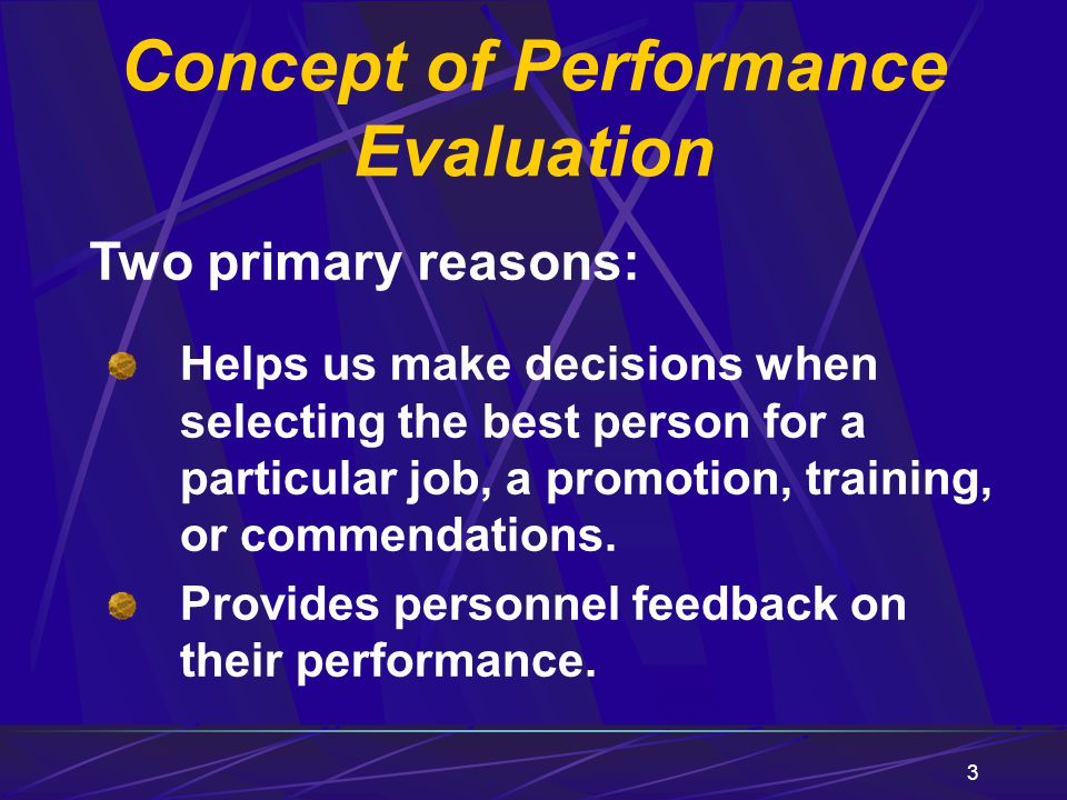 4 The Rating System Seven Performance Traits Basic Elements of Performance Evaluation Two parts: