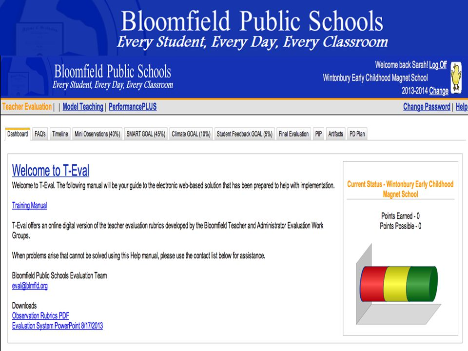 B loomfield Public Schools Learning and Growing Together