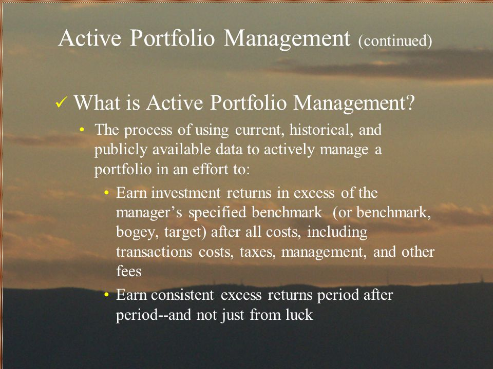 Why is it important to attribute performance to the portfolio's components.
