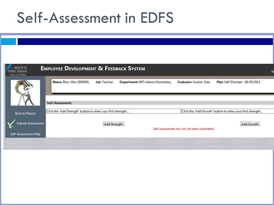 Self-Assessment in EDFS