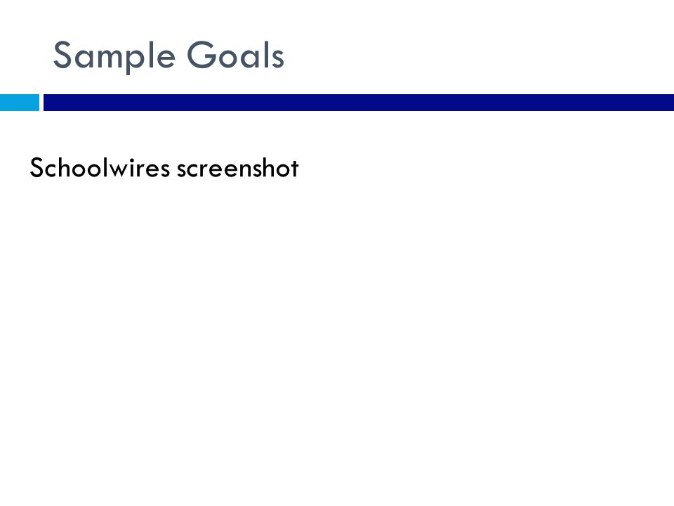 Sample Goals Schoolwires screenshot