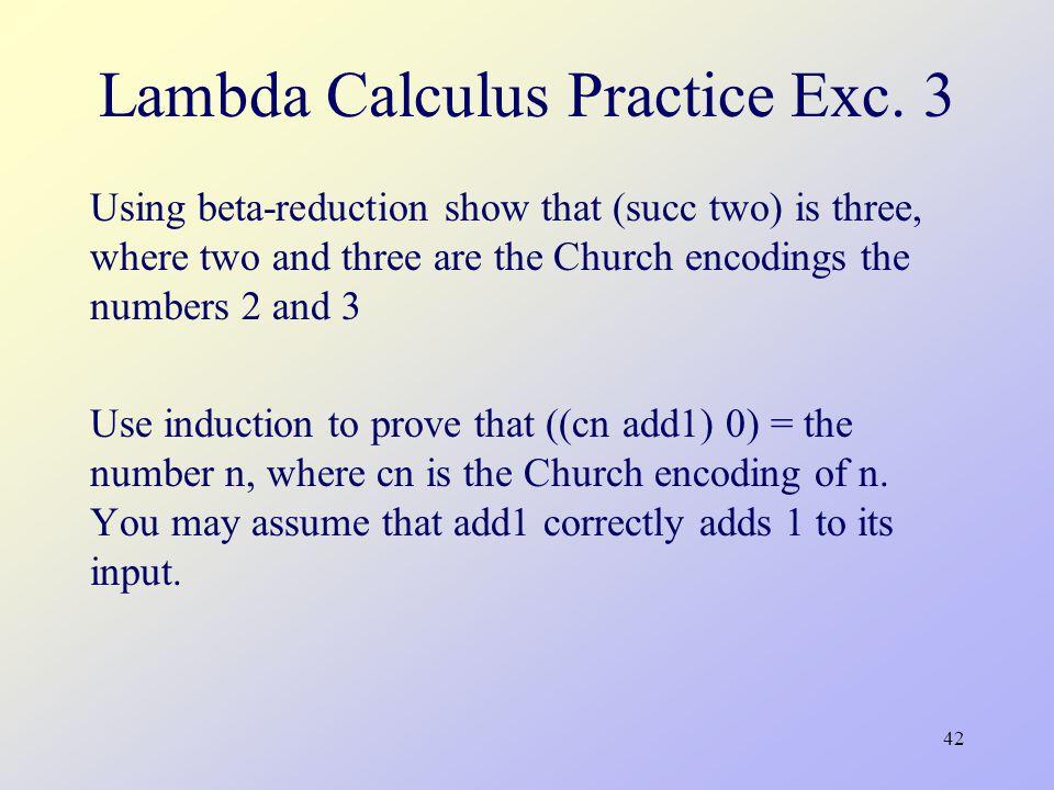 42 Lambda Calculus Practice Exc.