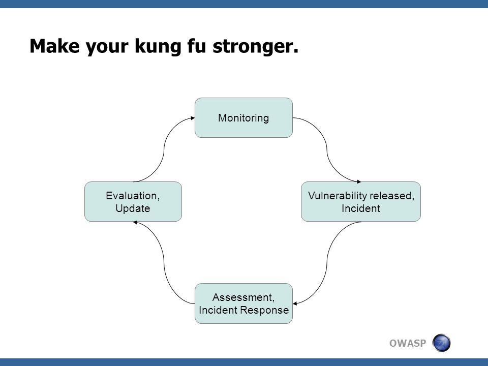 OWASP Make your kung fu stronger.