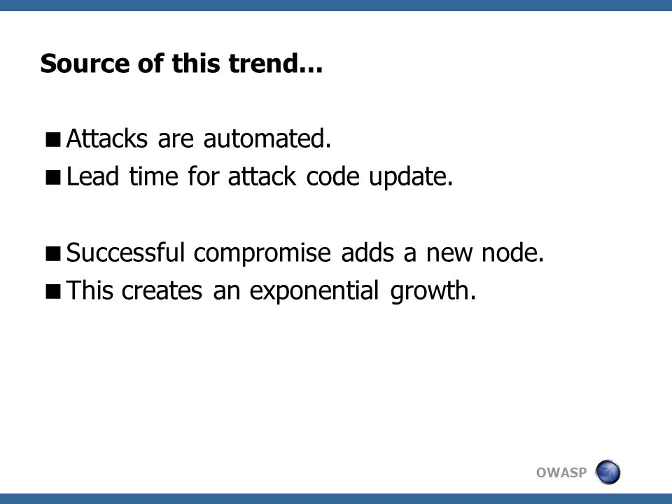 OWASP Source of this trend...  Attacks are automated.