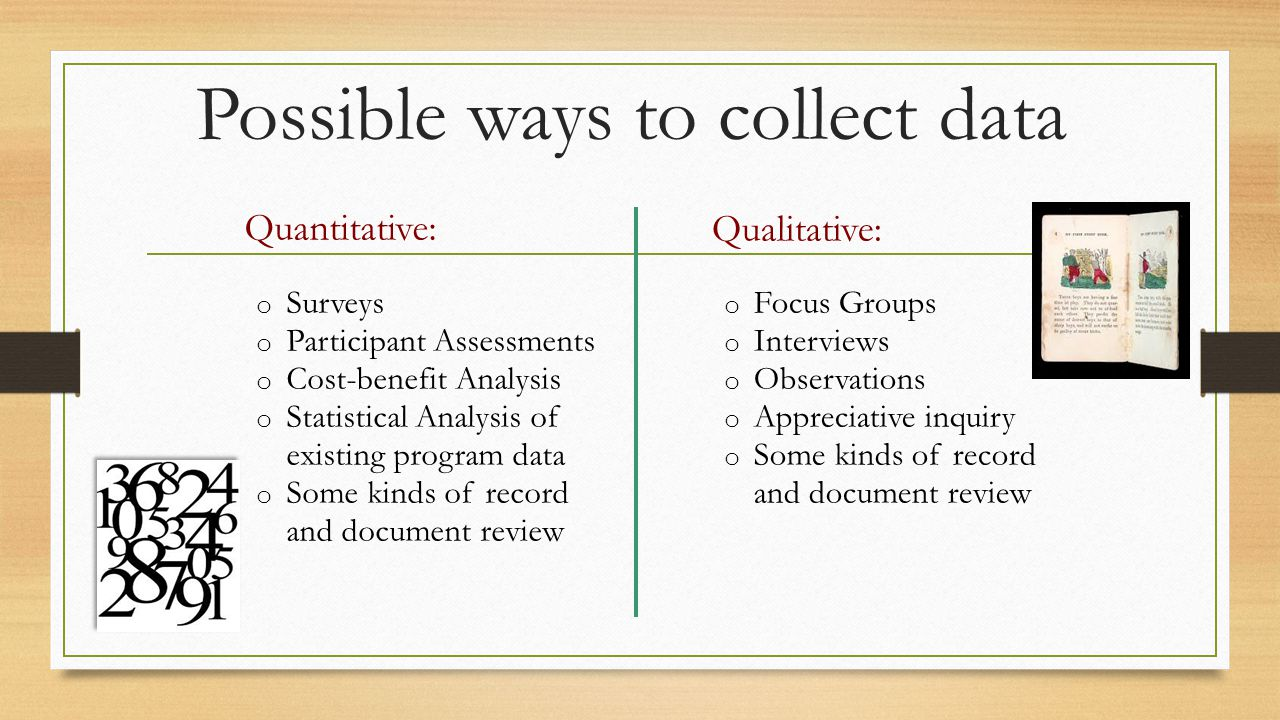 What are the best methods for your evaluation.
