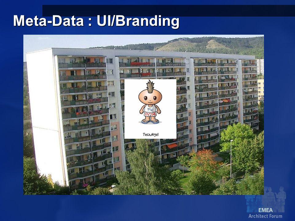 EMEA Meta-Data : UI/Branding