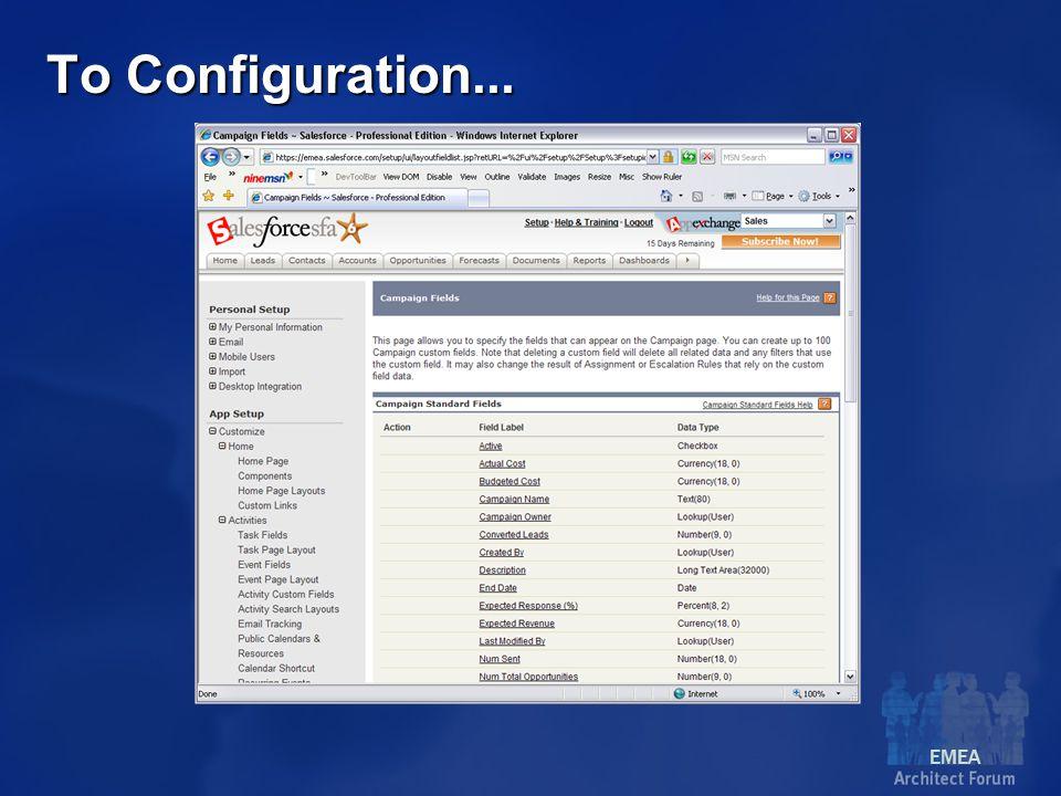 EMEA To Configuration...