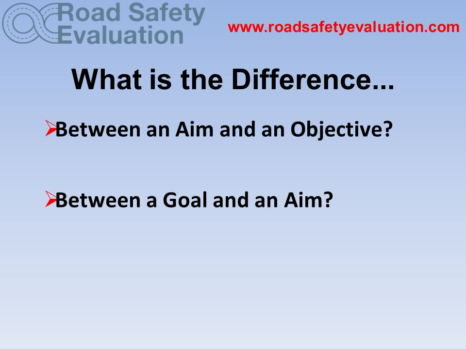 What is the Difference...  Between an Aim and an Objective.