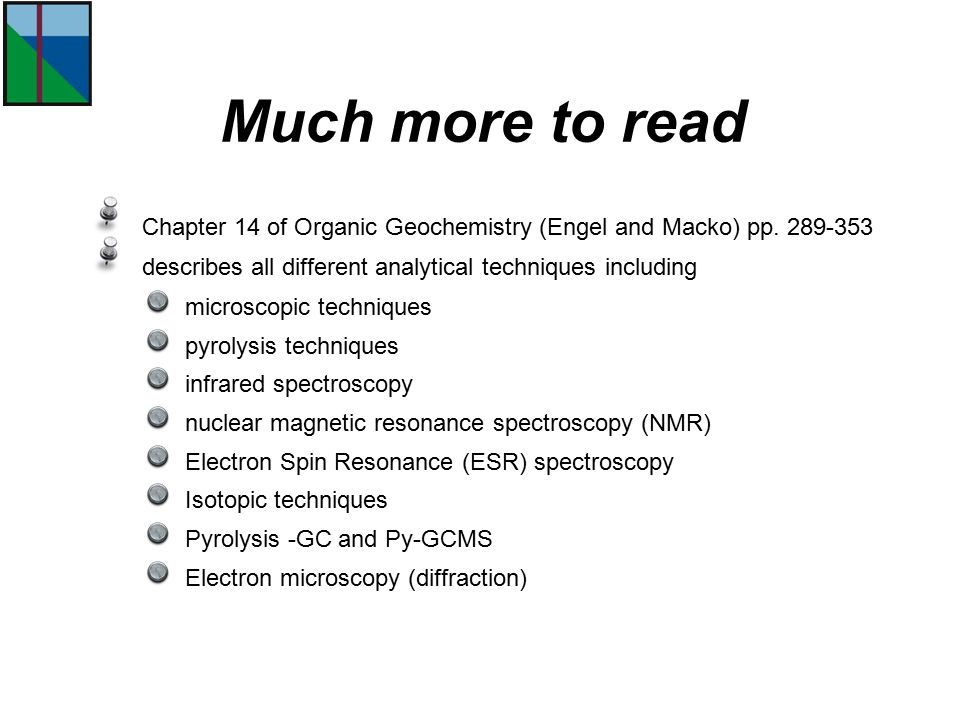 Chapter 14 of Organic Geochemistry (Engel and Macko) pp.