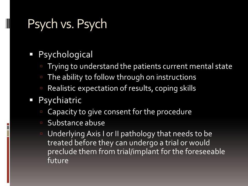 Psych vs.