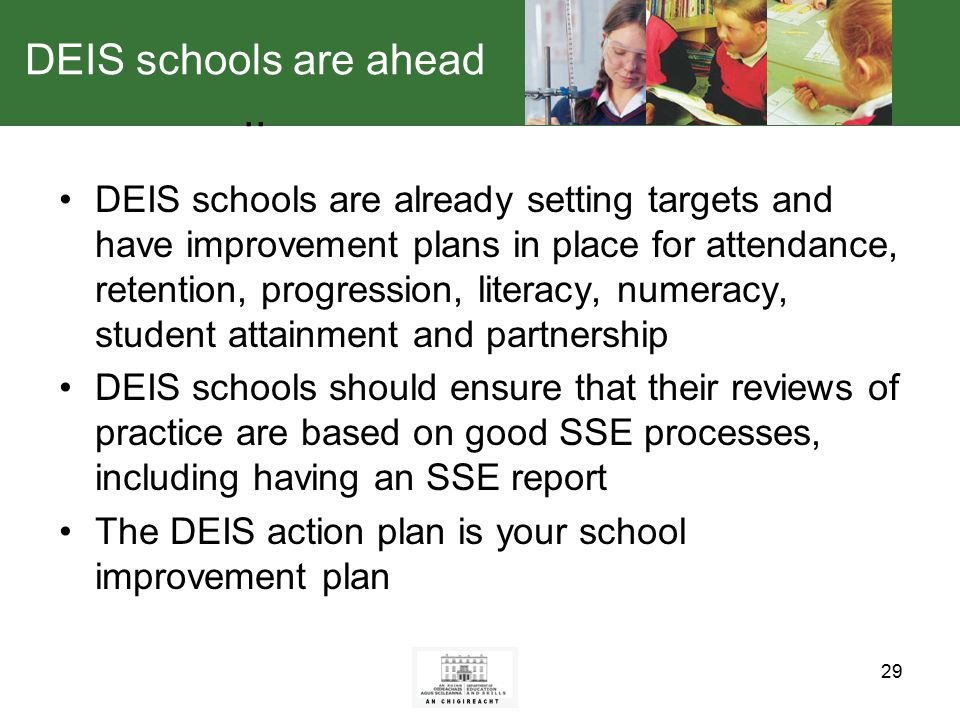 29 DEIS schools are ahead..