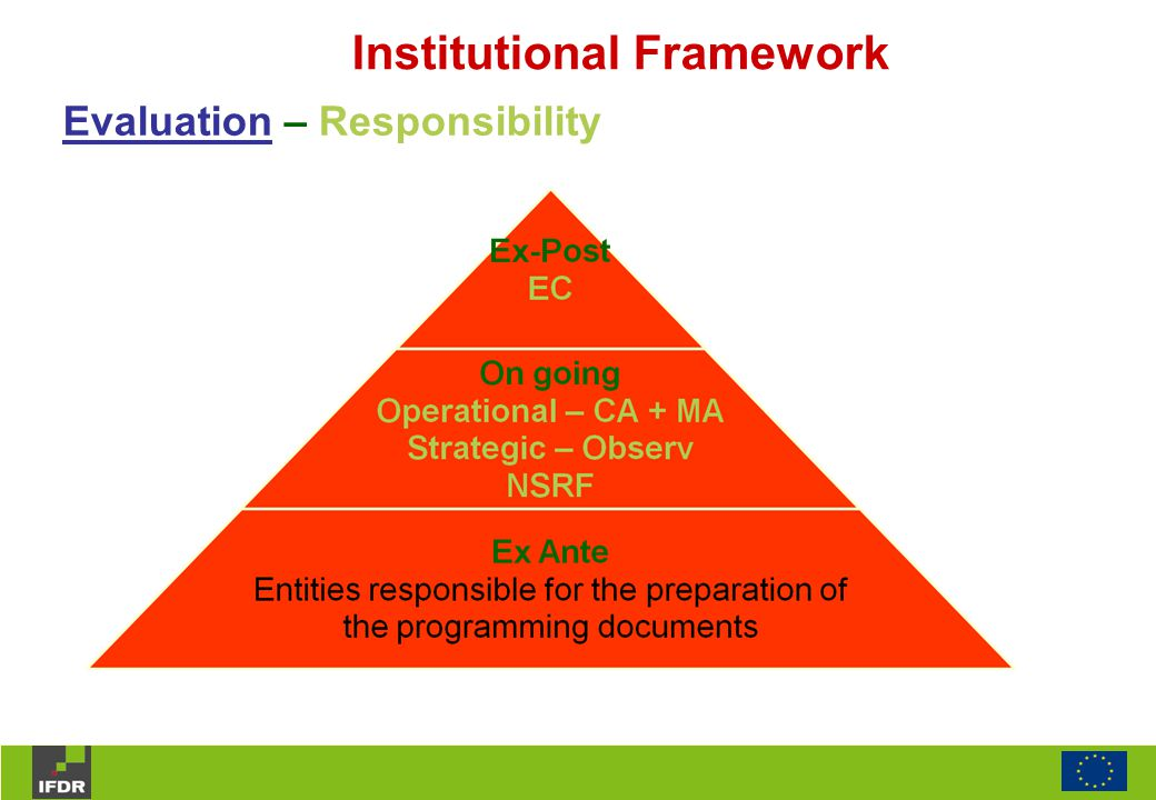 Institutional Framework Evaluation – Responsibility