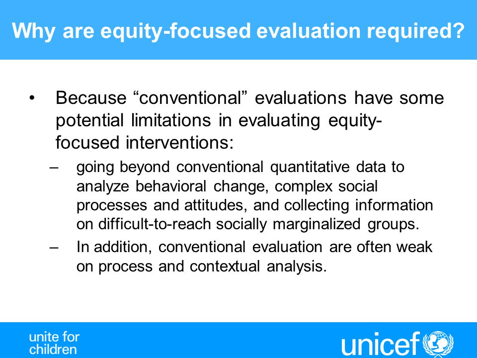 Why are equity-focused evaluation required.