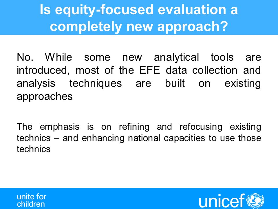 Is equity-focused evaluation a completely new approach.