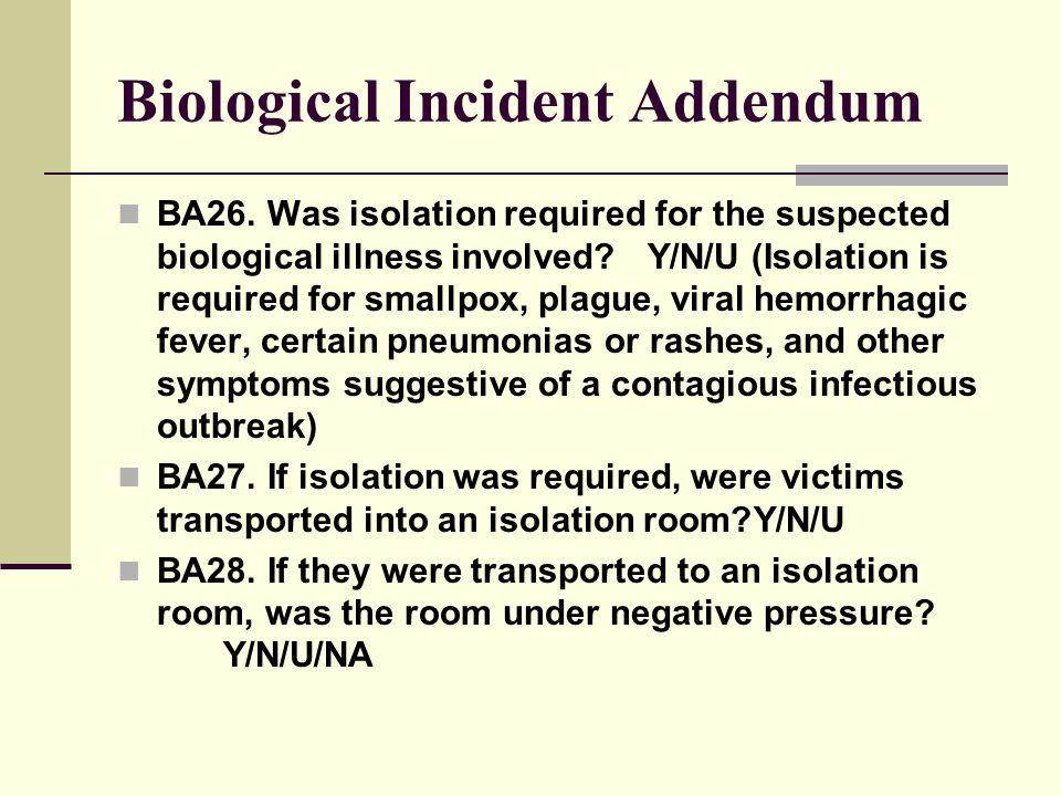 Biological Incident Addendum BA26.