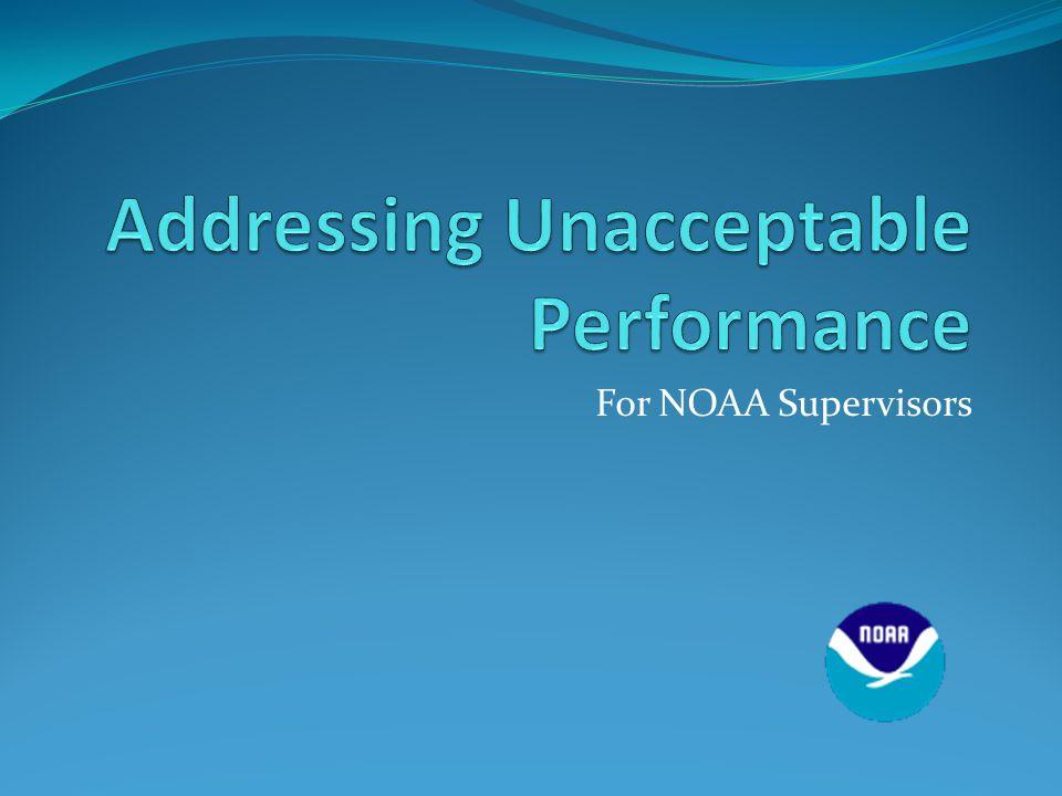 For NOAA Supervisors