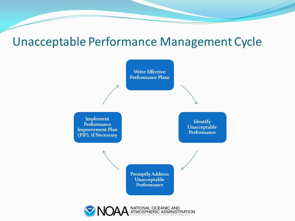 Unacceptable Performance Management Cycle Write Effective Performance Plans Identify Unacceptable Performance Promptly Address Unacceptable Performanc